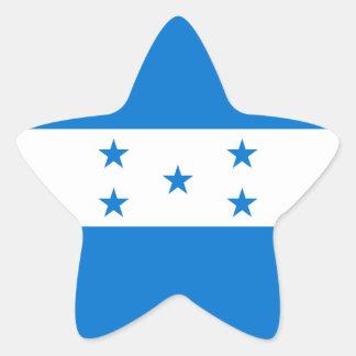 Pegatina En Forma De Estrella Bandera de Honduras