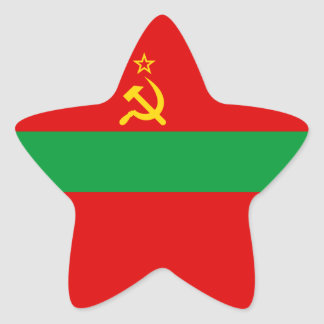 Pegatina En Forma De Estrella Bandera de Transnistria