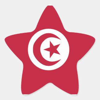 Pegatina En Forma De Estrella Bandera tunecina