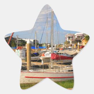 Pegatina En Forma De Estrella Barcos en el puerto deportivo, Darwin, Australia