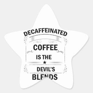 Pegatina En Forma De Estrella bebida divertida del café