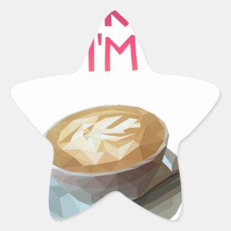 Pegatina En Forma De Estrella Beca bebida anónima del AA del café