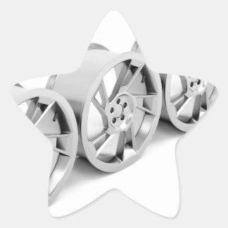Pegatina En Forma De Estrella Bordes de la aleación