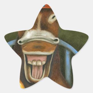 Pegatina En Forma De Estrella Burro de risa