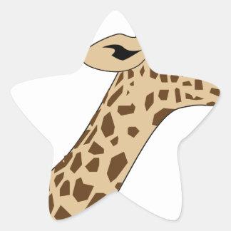 Pegatina En Forma De Estrella Cabeza de la jirafa