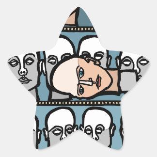 Pegatina En Forma De Estrella Cabezas del maniquí