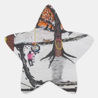 Pegatina En Forma De Estrella Cabina de la selva virgen