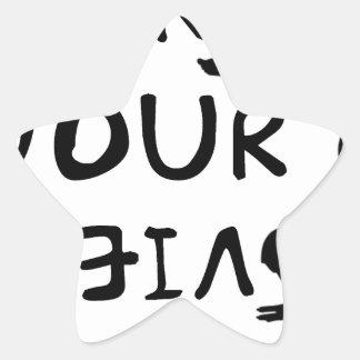 Pegatina En Forma De Estrella Cambie su opinión (2)