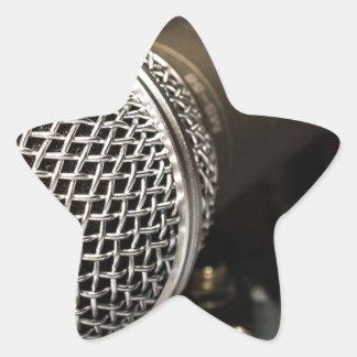 Pegatina En Forma De Estrella Canto del cable de micrófono del cable del