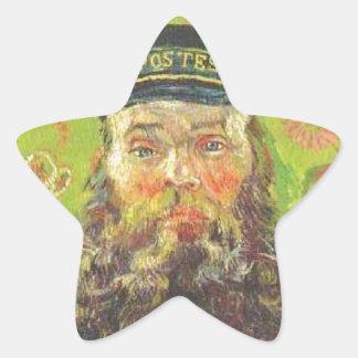 Pegatina En Forma De Estrella Cartero José Roulin - Vincent van Gogh del retrato