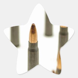 Pegatina En Forma De Estrella Cartucho 7.62x39 de AK47 de la bala de la munición