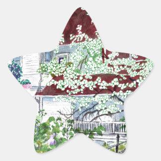 Pegatina En Forma De Estrella Casa del Victorian de Eureka Springs