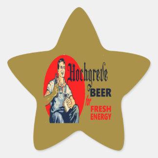 Pegatina En Forma De Estrella Cerveza de Hochgreve