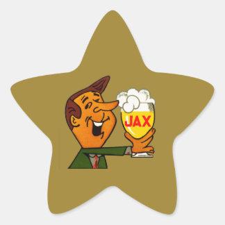 Pegatina En Forma De Estrella Cerveza de Jax