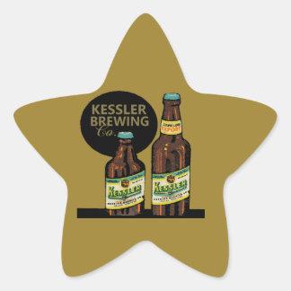 Pegatina En Forma De Estrella Cerveza de la exportación de Kessler