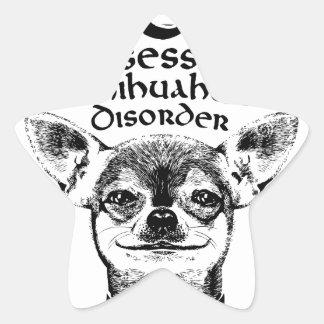 Pegatina En Forma De Estrella Chihuahua obsesiva de OCD