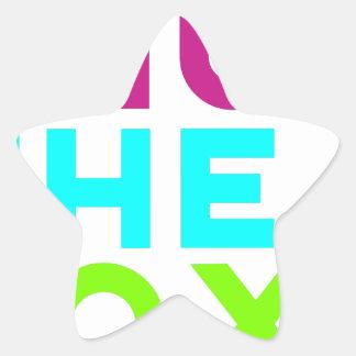 Pegatina En Forma De Estrella Cierre el logotipo de la caja