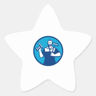 Pegatina En Forma De Estrella Círculo sin cuerda de Paintroller del taladro de