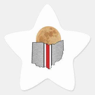Pegatina En Forma De Estrella Claro de luna de Ohio