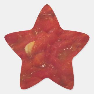 Pegatina En Forma De Estrella Cocinar la salsa de tomate hecha en casa usando