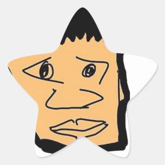 Pegatina En Forma De Estrella colección filipina de la cara del dibujo animado