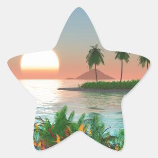 Pegatina En Forma De Estrella Color del trópico