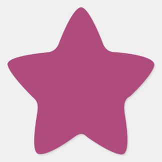 Pegatina En Forma De Estrella Color rosado magenta armonioso optimista P29