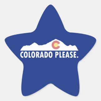 Pegatina En Forma De Estrella Colorado por favor