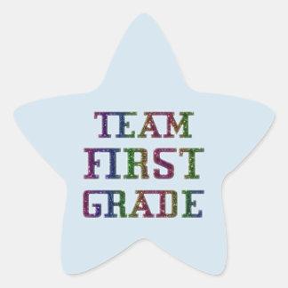 Pegatina En Forma De Estrella Combine el primer grado, pegatinas azules de la