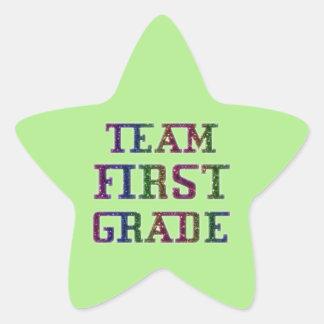 Pegatina En Forma De Estrella Combine el primer grado, pegatinas verdes de la