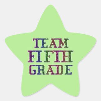 Pegatina En Forma De Estrella Combine el quinto grado, pegatinas verdes de la