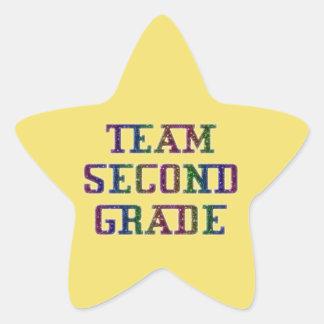 Pegatina En Forma De Estrella Combine el segundo grado, pegatinas amarillos de