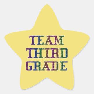 Pegatina En Forma De Estrella Combine el tercer grado, pegatinas del amarillo de