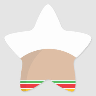 Pegatina En Forma De Estrella comida de alimentos de preparación rápida