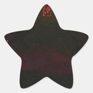 Pegatina En Forma De Estrella cono volcánico llano