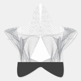 Pegatina En Forma De Estrella Cráneo abstracto del oso
