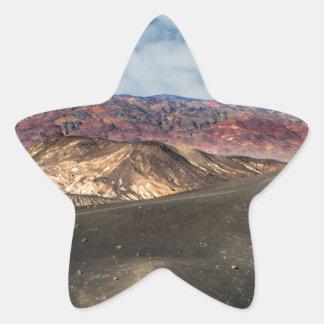 Pegatina En Forma De Estrella Cráter Death Valley de Ubehebe