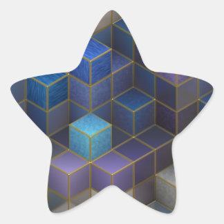 Pegatina En Forma De Estrella Cubo