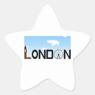 Pegatina En Forma De Estrella D3ia del horizonte de Londres