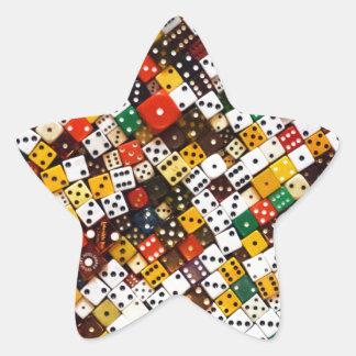 Pegatina En Forma De Estrella Dados