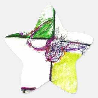 Pegatina En Forma De Estrella Deje el reinado de la libertad en la danza de la