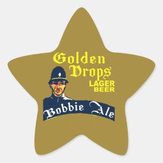 Pegatina En Forma De Estrella Descensos de oro/cerveza inglesa de Bobbie