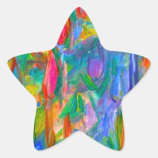 Pegatina En Forma De Estrella Descensos del color