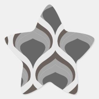 Pegatina En Forma De Estrella descensos geométricos grises