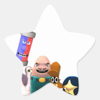Pegatina En Forma De Estrella Detectives estupendos del Jr. de los fisgones