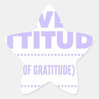 Pegatina En Forma De Estrella Detox AA de la recuperación de la gratitud de la