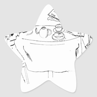 Pegatina En Forma De Estrella Dibujo animado de conmutación 1098