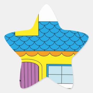 Pegatina En Forma De Estrella Dibujo animado de la escuela