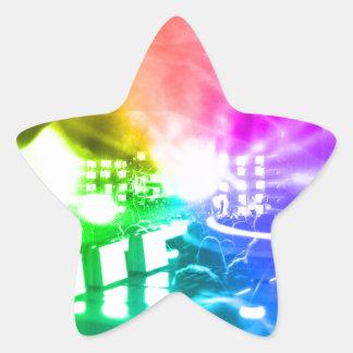 Pegatina En Forma De Estrella Dios es DJ