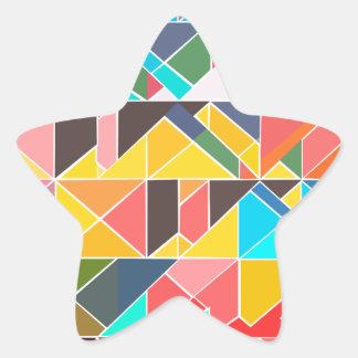 Pegatina En Forma De Estrella Diseño abstracto triangular
